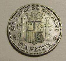 Spain 1869-SN M (69) 2 Pesetas Silver Coin