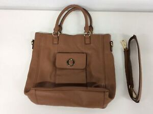 Oroton Tan Leather Crossbody Handbag with Detachable Shoulder Strap #710
