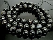 "Natural Astrophyllite Gemstone 8mm Round Fireworks Stone Beads Std 15"" 47 Beads"
