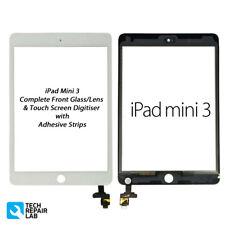 NUOVO iPad Mini 3 COMPLETA ANTERIORE VETRO/convertitore analogico-digitale Touch Screen Montaggio-Bianco