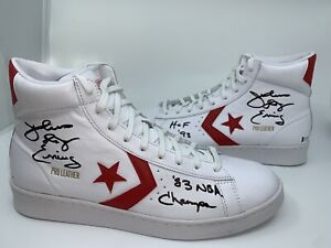 Julius Erving autographed Converse Shoe NBA Philadelphia 76ers Beckett Witnessed