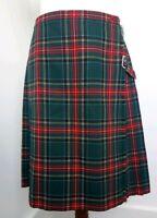 Fletcher Jones Green Tartan Kilt 100% Wool. Vintage 1970's Rare Find. Free Post!
