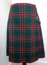 Fletcher Jones Green Tartan Kilt 100% Wool. Vintage 1970's Rare Find. Free Post!