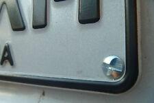 4pack Anti-Theft Number Plate Screws - ONE WAY, Security Screws, Anti-Reverse