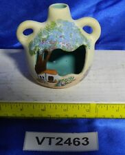 Vintage Hand-Painted Candle Burner Native American Pottery, Signed Traina VT2463