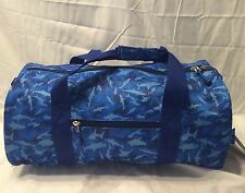 "New Bixbee ""Shark Camo"" Blue Kids Duffle - Original Retail Price $34.95"