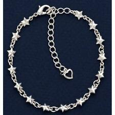 New! Antique Style Silver Plated Star Anklet Ankle Bracelet Jewelry Stars