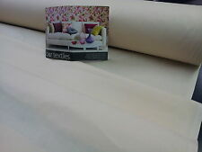"LINING - Quality Sateen Solprufe Curtain Lining Ivory Cream 54"" Wide 100% Cotton"