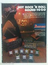 retro magazine advert 1984 IBANEZ ROCK N ROLL