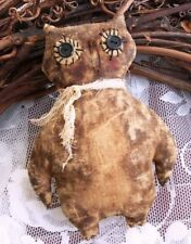 PRIMITIVE HALLOWEEN OWL ORNIE EASY PATTERN -  GREAT FOR ALL SEASONS! VERY PRIM!