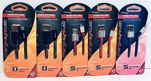 Lot Of 5 PowerUp Charge+Sync USB Cables Micro USB Tablets Smartphone GPS Devices