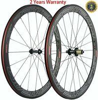 Superteam Carbon Wheels 50mm 23mm Clincher Road Bike Carbon Wheelset 3K Basalt