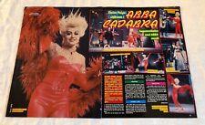ELAINE PAIGE 1984 ABBA CADABRA Clippings Posters Swedish magazine Okej Vintage