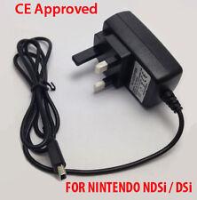 New 3 Pin UK Mains Charger Adapter Wall Plug For Nintendo DSi NDSi DSiXL XL DSi