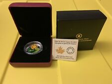 Fine Silver Coin  $20- Water-lily and Venetian Glass Leopard Frog (2014)