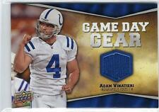 JERSEY INDIANAPOLIS COLTS MT GAME DAY GEEAR ADAM VInATIERI  UPPER DECK 2009