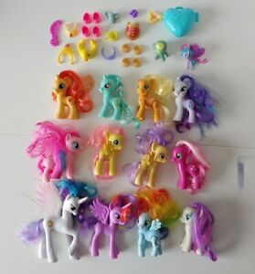 My Little Pony 12 Ponies Lot Brushable G4 Accessories  Outfits Celestia
