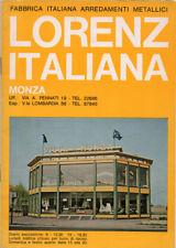 VECCHIO CATALOGO ARREDAMENTI METALLICI E IN LEGNO LORENZ ITALIANA MONZA REGUITTI