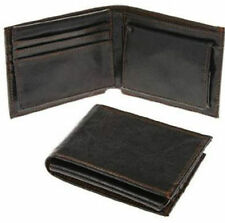 Mens Strong Stitched Black Wallet with Coin Compartment. Boxed JD6040