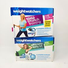 Weight Watchers Belly Kit & Time Crunch Training DVD Bundle Ball Resistance Cord