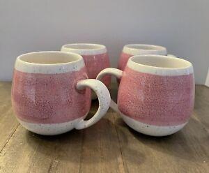 Robert Gordon Pink And Cream Speckled Mugs Set Of 4