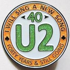 U2 PIN - ORnge 40 Year Anniversary - Irish Christian Rock Pop Band The Edge Bono