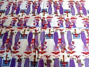 "1 yd Red Hat lady cotton print ""Sisterhood of Purple"" Jody Houghton"