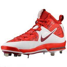 Mens $120 Nike Air Huarache Pro Mid Metal Baseball Cleat RED WHITE CAMO sz 13