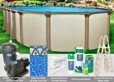 "8x12 Oval 54"" High Melenia Above Ground Swimming Pool Package - 50 Year Warranty"