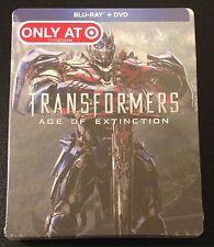 TRANSFORMERS AGE OF EXTINCTION Blu-Ray SteelBook Target Exclusive New OOP & Rare