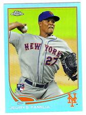 2013 Topps Chrome BLUE REFRACTOR #59 JEURYS FAMILIA RC 45/199 New York Mets