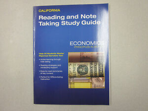 Economics Principles in Action Reading and Note Taking Study Guide 0328987042
