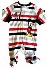 New Disney Baby Mickey Mouse Boys Sleeper Striped Footie 3 Months Little Guy