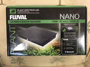 Fluval Plant LED 3.0 Bluetooth Nano Aquarium Light - 15W 7500K New in Open Box