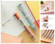 Colorful 6 In 1 Ballpoint Pen 0.5mm Creative Novelty Multicolor Pens School Kids