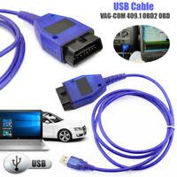 USB Cable KKL VAG-COM 409.1 OBD2 II OBD Diagnostic Scanner VW/Audi/Seat VCDS UK