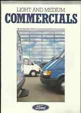 FORD TRANSIT VAN/BUS/CHASSIS CAB,FIESTA/ ESCORT VAN/P100 SALE BROCHURE 1987 1988