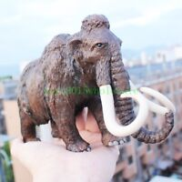Wild Animal Mammoth Action Figure Ancient Lifelike Statue Model Table Decore Toy