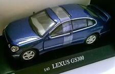 CARARAMA 1:43 AUTO DIE CAST AUTO LEXUS GS300 BLU METALLIZZATO ART 250