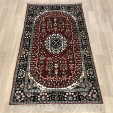 YILONG 3'x5' Hand Knotted Silk Porch Carpet Lounge Interior Classic Rug Y474C