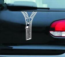 Creative Zipper Car Stickers Rear Decals Decoration Accessories Fastener