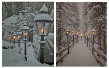 LED Wandbild 50x40 cm - Motiv wählbar - Leinwand beleuchtet Winter Leuchtbild