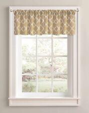 "NEW Better Homes And Gardens TAN/WHITE Trellis Valance, 60""X14""Rod Pocket"