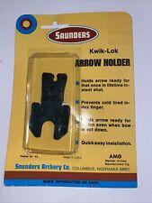 Saunders Archery Co. Kwik-lock Arrow Holder. New