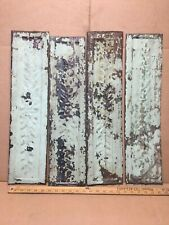 """4 pc 24"""" x 6"""" Fancy Antique Ceiling Tin Vintage Reclaimed Salvage Art Craft"""