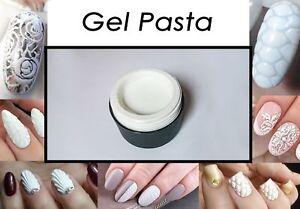 3D White Gel Pasta for Volume Textures Nail Art