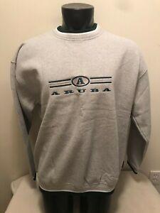 Vintage Aruba Embroidered Sweatshirt Mens XL Made in USA