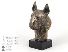 Bull Terrier, statue miniature / buste de chien, édition limitée, Art Dog FR