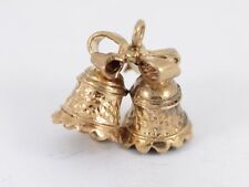 Wedding Bells Charm Vintage 9ct Gold 375 Charms Pendant AC83