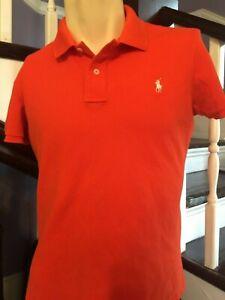 Rare Mens Polo Ralph Lauren 1912  Shirt Orange size L Large Classic Golf Fit